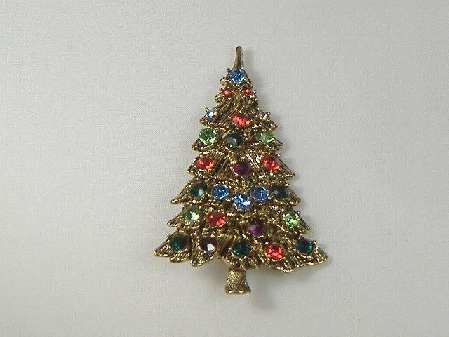 Vintage Swarovski Crystal Christmas Tree Pin/Brooch