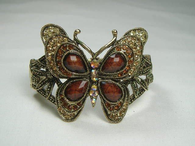 Swarovski Crystal Butterfly Bangle Bracelet