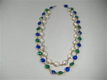 Vintage Swarovski Crystal Chanel Double Strand Necklace
