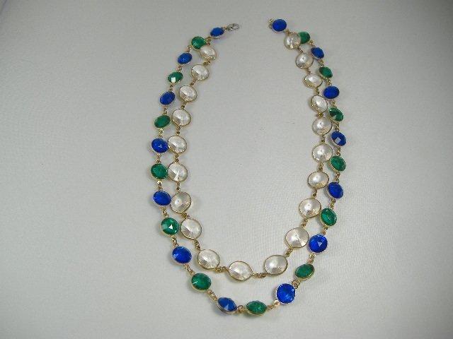 Vintage Swarovski Crystal Chanel Double Strand Necklace
