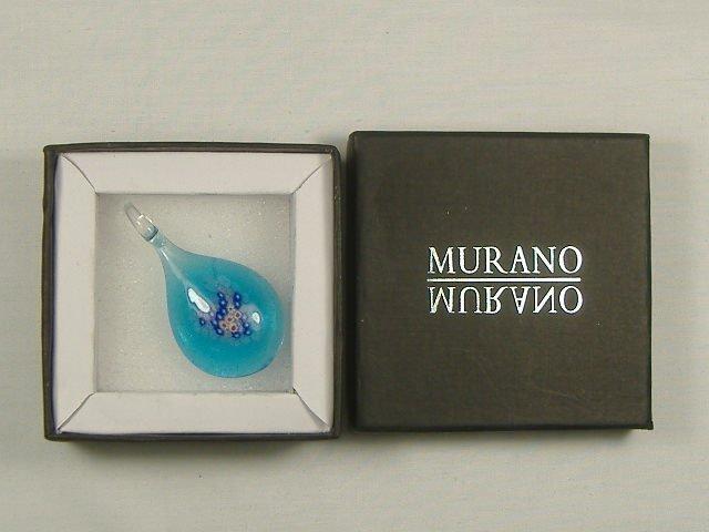 Vintage Murano Millefiori Pendant in Box