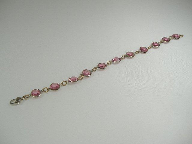 Vintage Rose Swarovski Crystal Chanel Bracelet