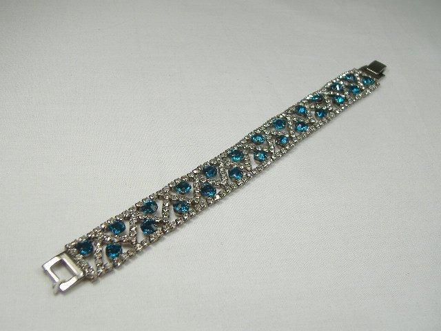 Vintage Aqua Swarovski Crystal Tennis Bracelet