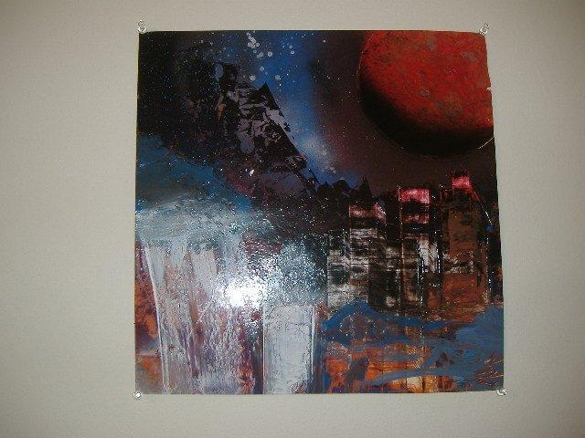 "Artist Signed ""City Lights"" Acrylic Original Painting"