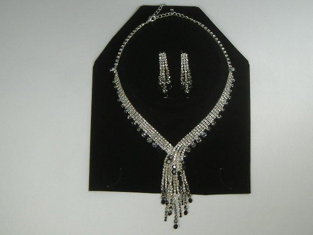 Vintage Sarovski Crystal Necklace & Earring Set