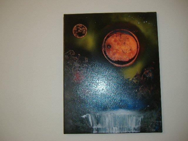 "Artist Signed ""Starry Nights"" Acrylic Original Painting"
