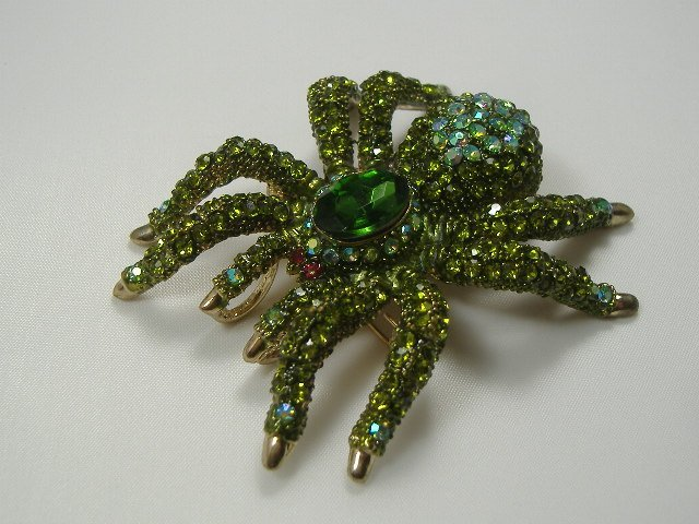 Vintage Swarovski Crystal Spider Pin/Brooch/Pendant