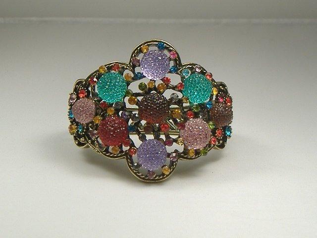 Vintage Swarovski Crystal Multicolored Bangle Bracelet