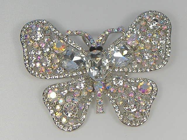 Vintage Swarovski Crystal Butterfly Pin/Brooch
