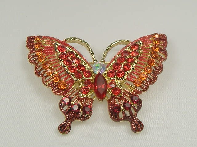 Vintage Ruby  Swarovski Crystal Pin/Brooch