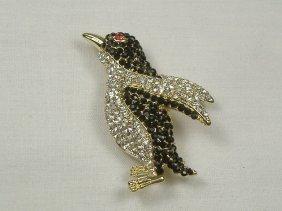 Vintage Swarovski Crystal Penguin Pin/Brooch