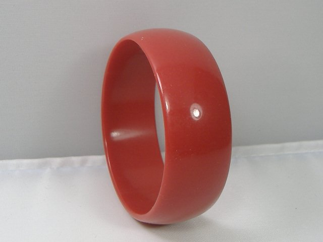 Vintage Lucite Ruby Red Bangle Bracelet