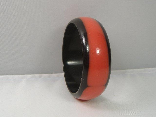 Vintage Lucite Ladybug Bangle Bracelet