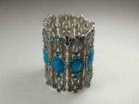 Crystalleria Designer Bangle Bracelet