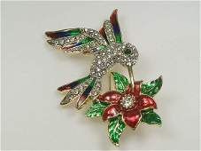 Crystalleria Hummingbird Pin/Brooch