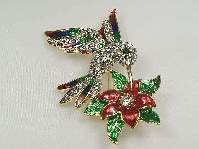 Crystalleria Hummingbird Pin/Brooch