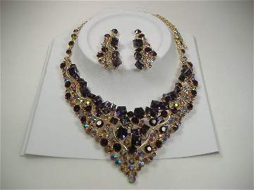 Amethyst Crystalleria Necklace Set