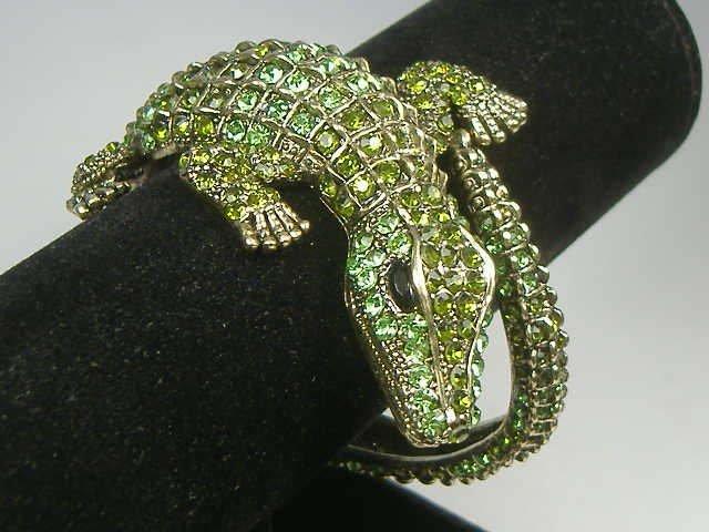 Swarovski Crystal Element Alligator Bangle Bracelet - 2