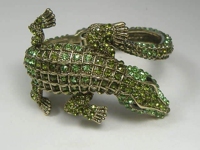 Swarovski Crystal Element Alligator Bangle Bracelet - 3