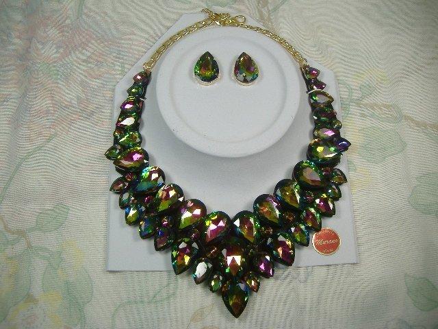 Swarovski Crystal Element Necklace and Earring Set