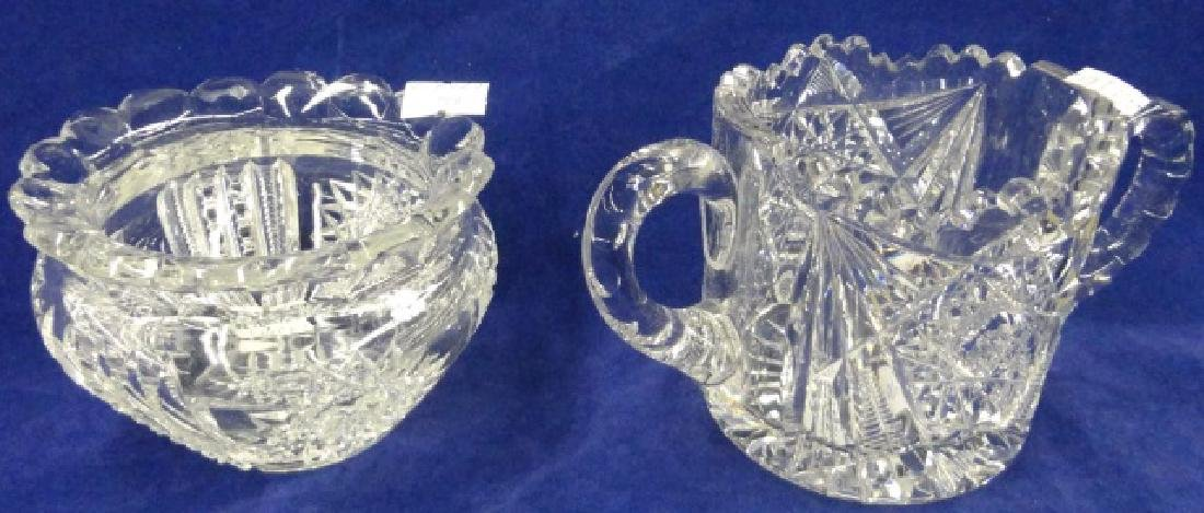 *2 PIECES OF AMERICAN BRILLIANT CUT GLASS