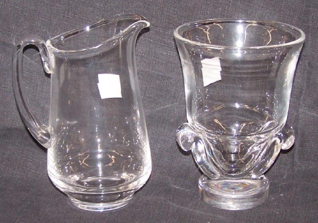 *2 PIECES OF STEUBEN CRYSTAL GLASS