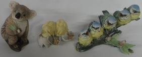*3 PORCELAIN FIGURAL GROUPINGS