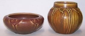 *2 PIECES OF ROOKWOOD ART POTTERY
