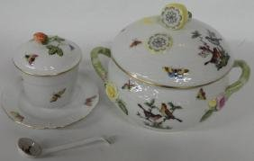 *2 PIECES OF HEREND PORCELAIN