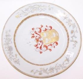 *19TH C. CHINESE EXPORT PORCELAIN PLATE