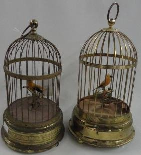 2 SINGING BIRDCAGES