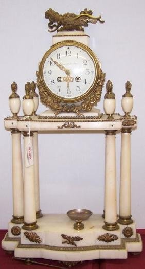 *FRENCH MANTEL CLOCK