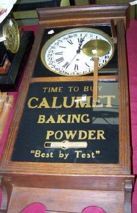 *19TH C. ADVERTISING CALENDAR CLOCK