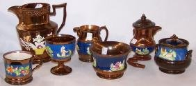 *7 PIECES OF 19TH C. COPPER LUSTRE