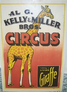 *UNFRAMED VINTAGE CIRCUS POSTER