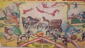 *UNFRAMED ANTIQUE CIRCUS POSTER