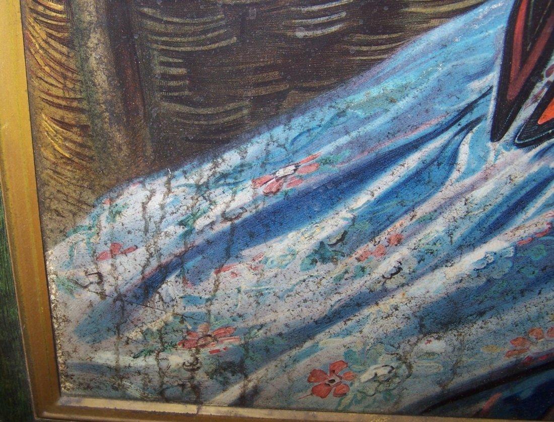 1909 BUDWEISER GIRL SELF-FRAMED TIN SIGN - 7
