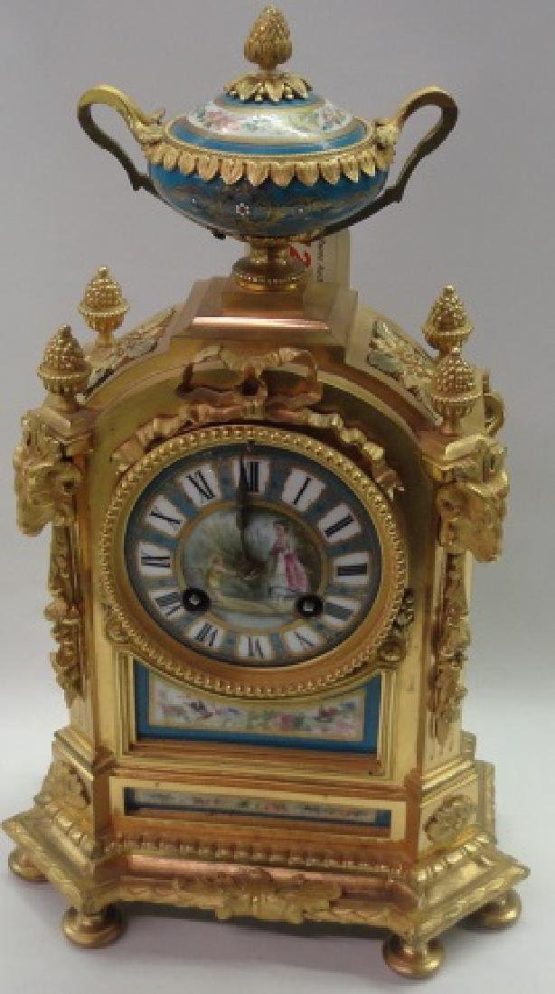 *FRENCH STYLE MANTEL CLOCK