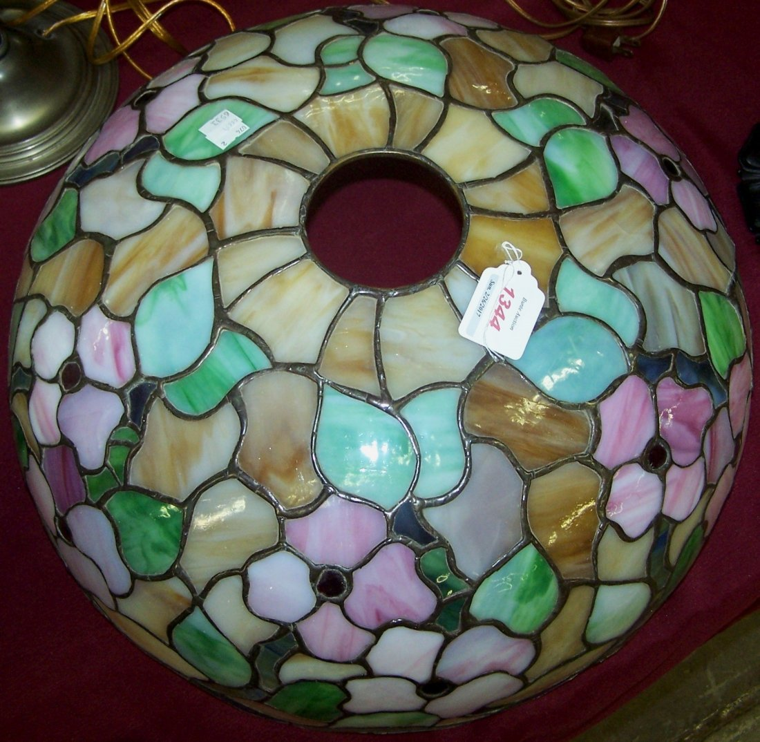 *ART NOUVEAU STYLE STAINED GLASS SHADE - 2