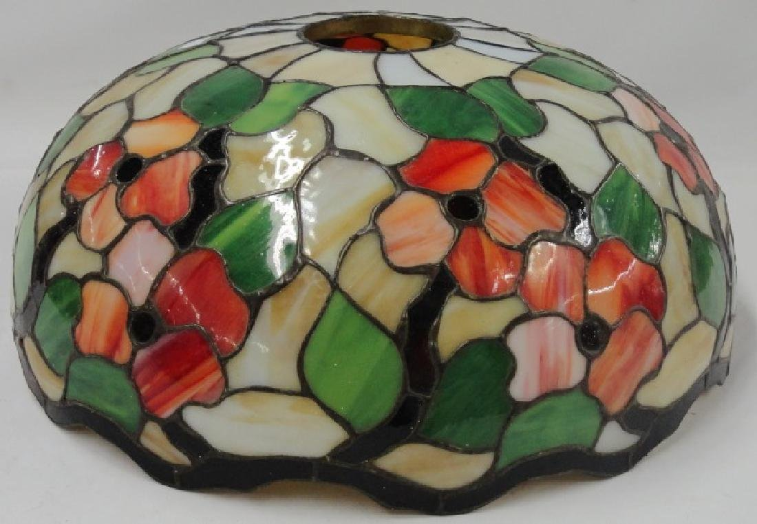 *ART NOUVEAU STYLE STAINED GLASS SHADE