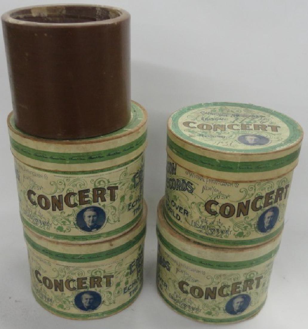 4 EDISON CONCERT CYLINDER RECORDS