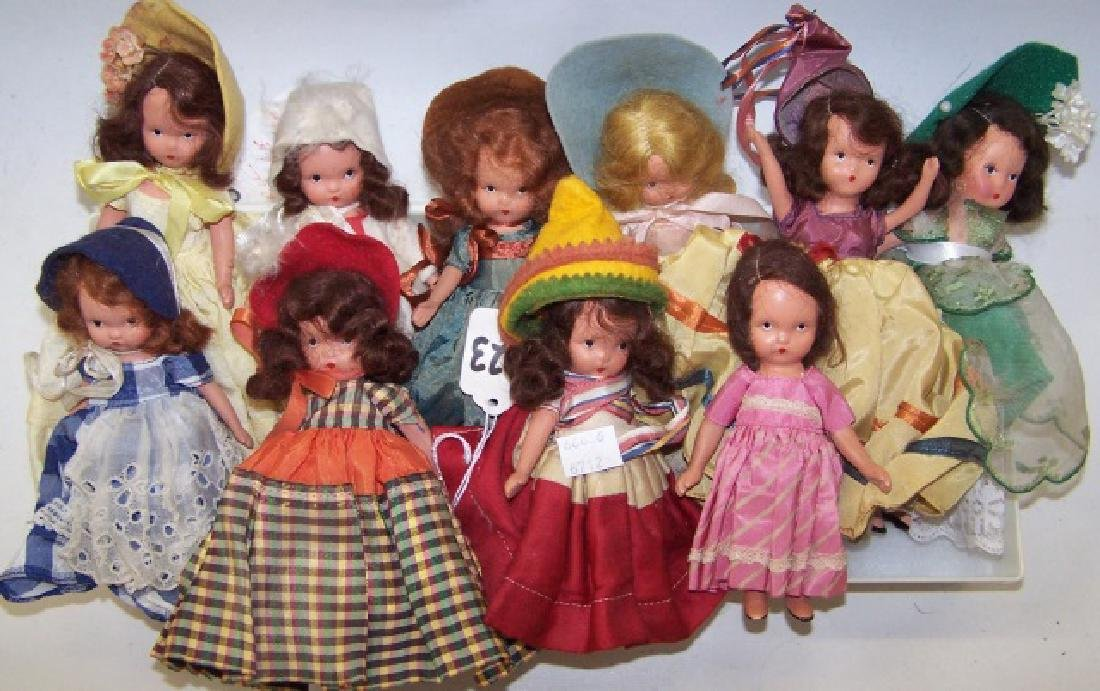 *GROUP OF BISQUE STORYBOOK DOLLS