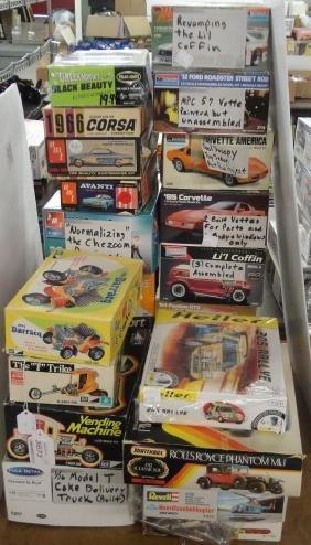 *23 PLASTIC MODEL CAR KITS