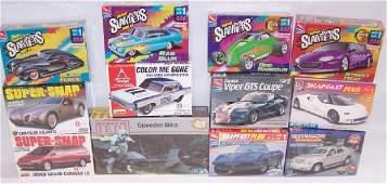 12 PLASTIC MODEL CAR KITS