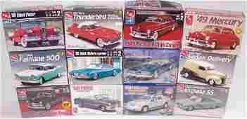 *12 AMT PLASTIC MODEL CAR KITS