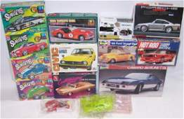 14 PLASTIC CAR MODEL KITS