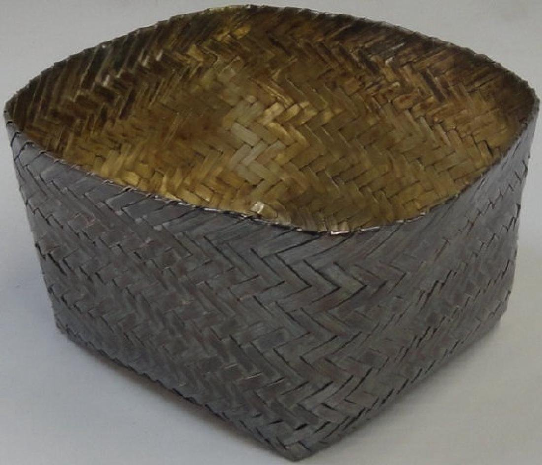 *MEXICAN STERLING SILVER WOVEN BASKET