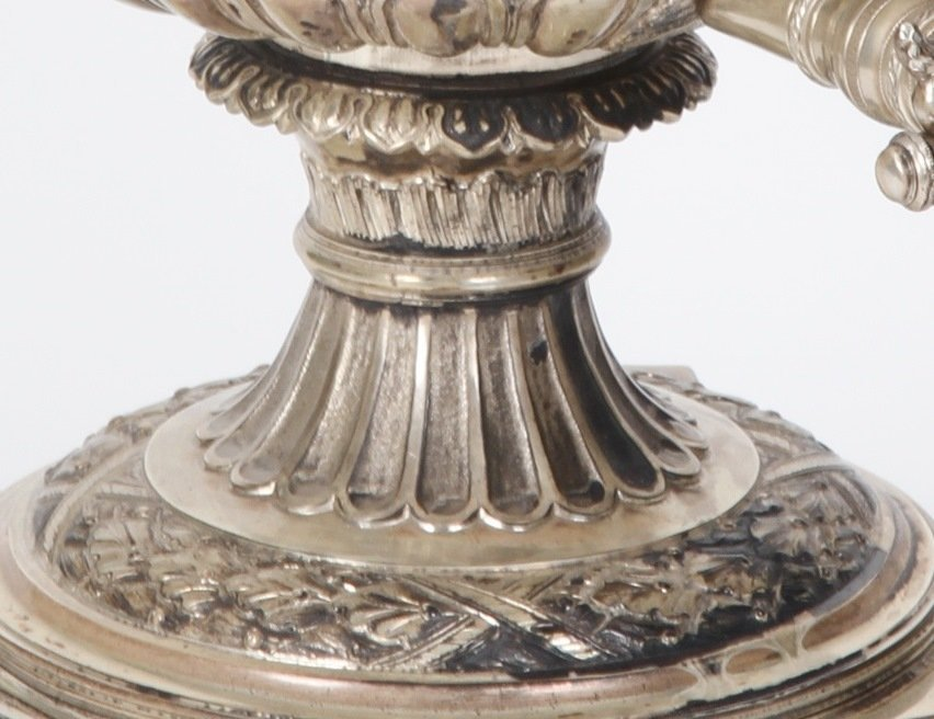 *ENGLISH STERLING SILVER URN - 5
