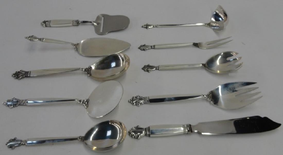 *199-PC SET OF GEORG JENSEN STERLING FLATWARE - 3