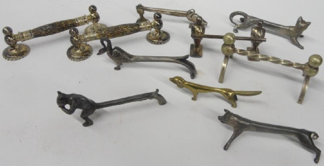 *10 SILVERPLATE FIGURAL KNIFE RESTS